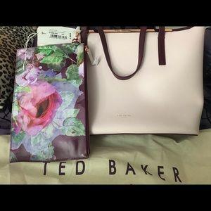 Ted Baker Ariel Crosshatch Faux Leather Shopper